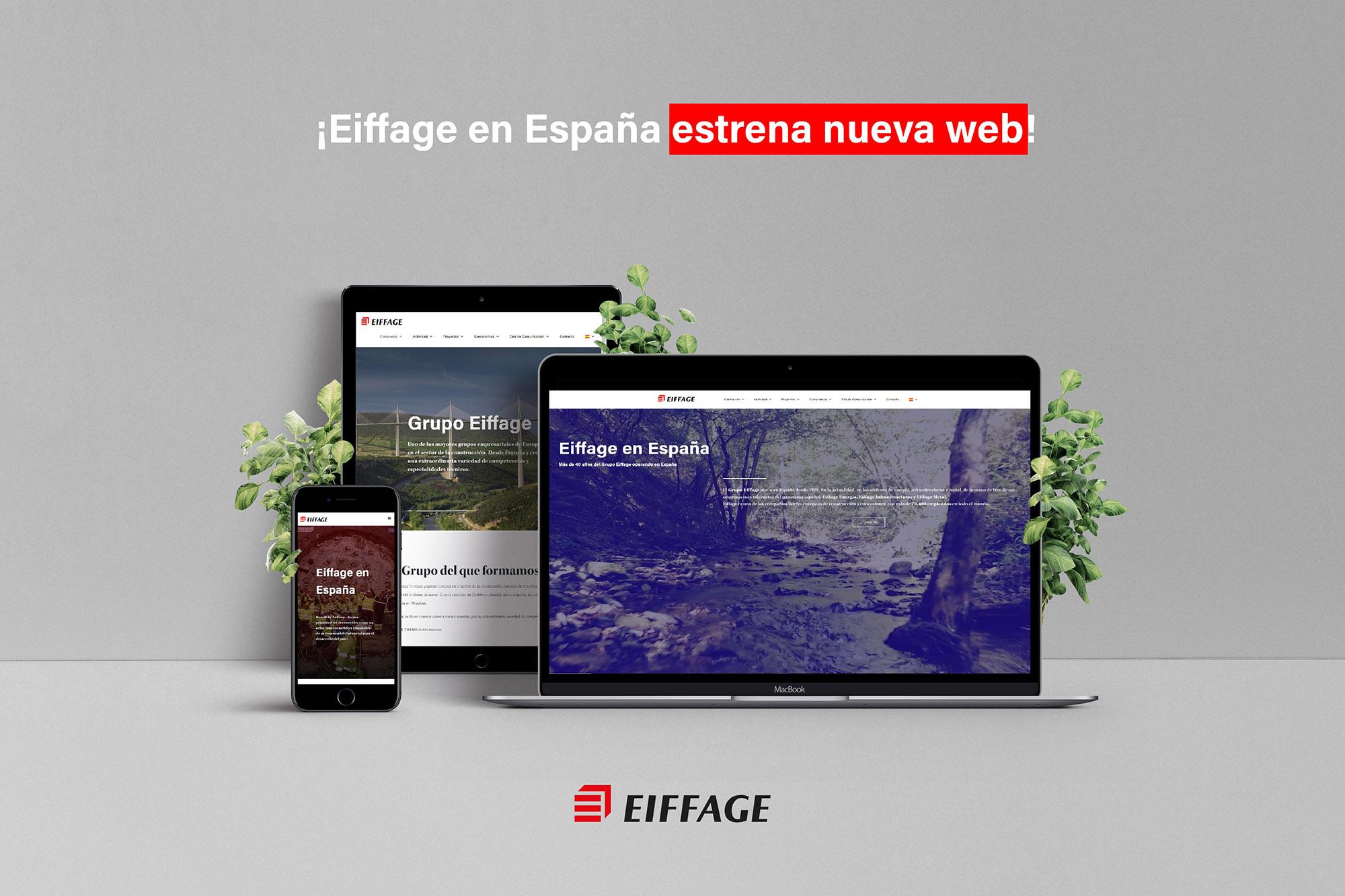 Eiffage España lanza su nueva página web