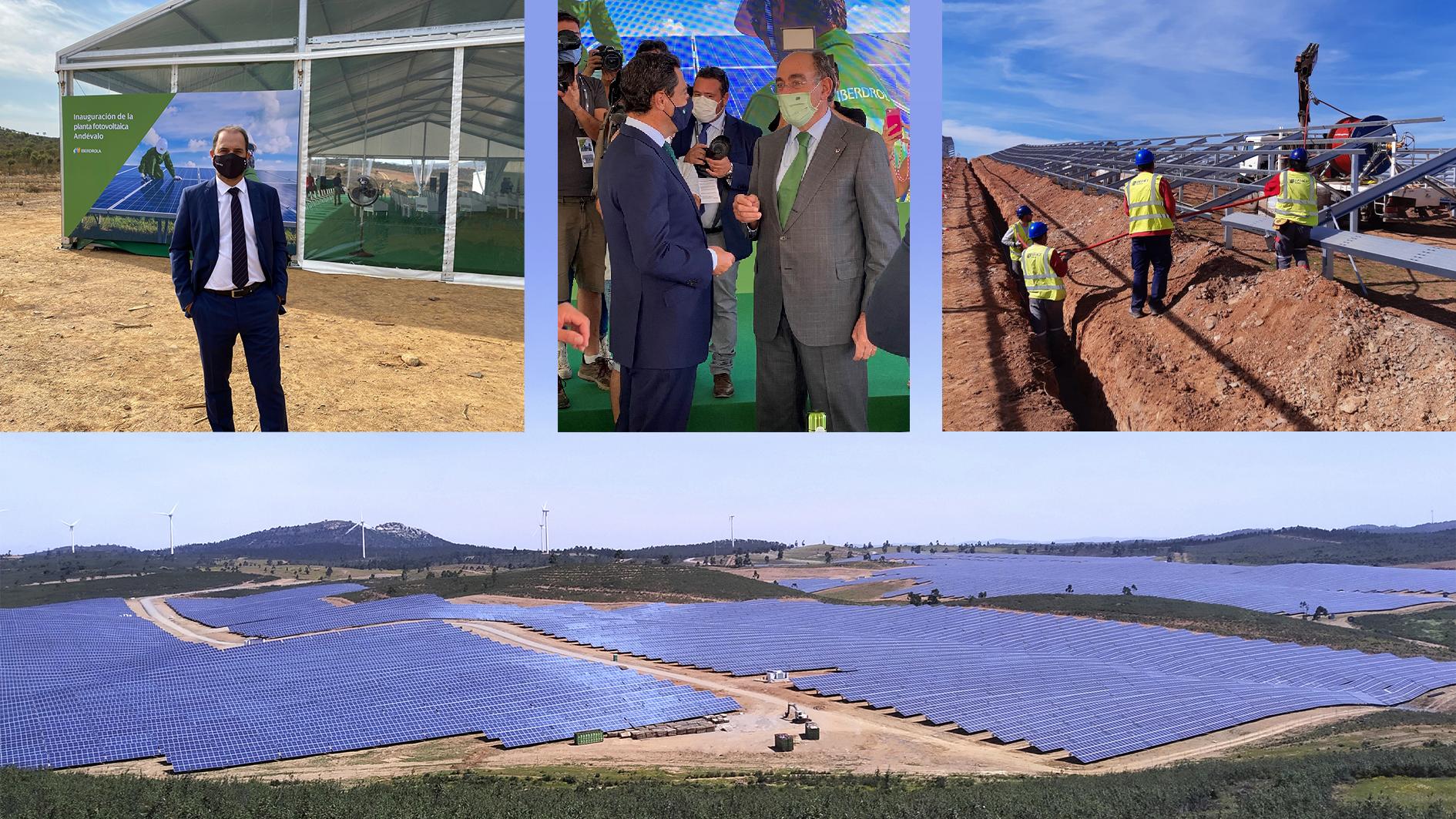 Iberdrola inaugurates the Andévalo Solar Plant, built by Eiffage Energía